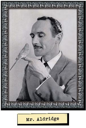 Framed portrait photograph of Mr Aldridge