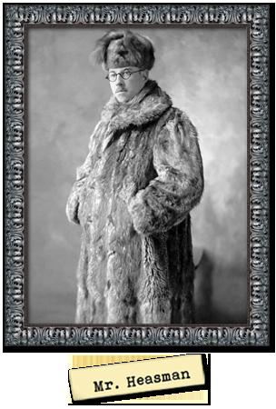 Framed portrait photograph of Mr Heasman