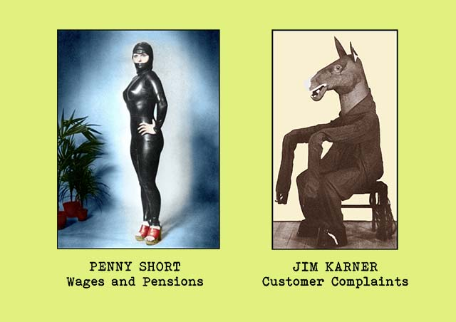 Portrait photgraphs of office staff members - Penny Short (Wages and Pensions) and Jim Karner (Customer Complaints)